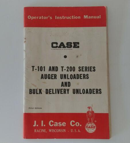 """Case """"T-101 & T-200 Series Auger & Bulk Unloaders"""" Operators Manual [9-5007-1]"""
