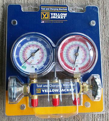 Yellow Jacket 42005 Series 41 Manifold W318 Gauges R22r134a404a