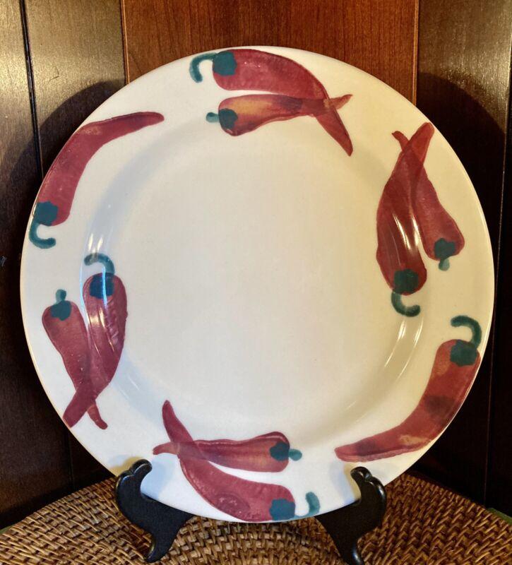 Vintage Hartstone  Pottery USA Chili Pepper Dinner Plate
