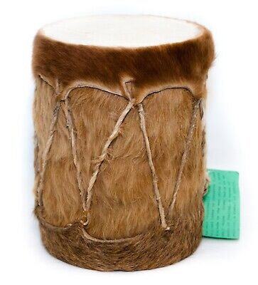 African Tribal Hide Covered Moropa Bongo Conga Drum Handmade Vintage for sale  Shipping to Nigeria