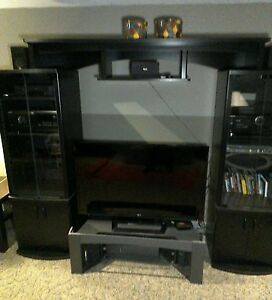 Twin Tower TV surround cabinet!