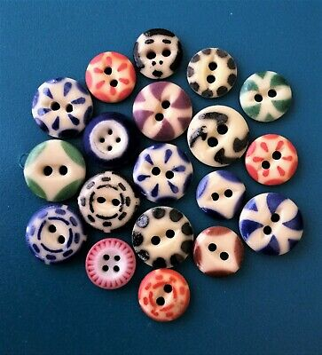 49 Vintage Buttons On Cardboard Display with  Unique vintage button,Plastic Buttons,Vintage Brown Decorative Buttons,Round Plastic Buttons
