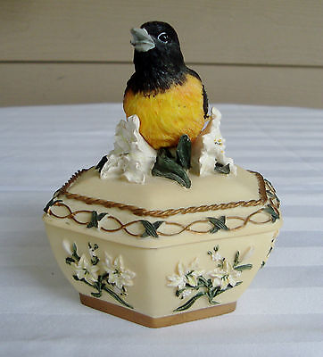 Vintage Heritage House Sing A Song Music Box Bird
