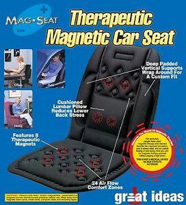 car travel home magnetic lumbar support seat cushion backache lower back pain ebay. Black Bedroom Furniture Sets. Home Design Ideas
