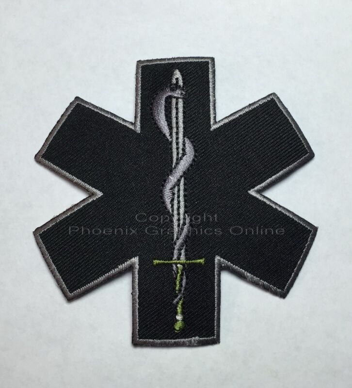 """SWAT Tactical Medic Patch Star of Life 3"""" Paramedic Police Sheriff EMS Deputy"""