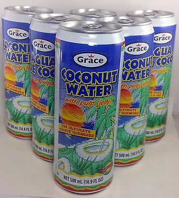Grace Coconut Water with pulp - 16.9 fl oz each ( 12-cans)