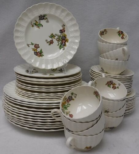 SPODE china WICKER LANE 2/7519 pattern 60 Piece SET SERVICE for 12