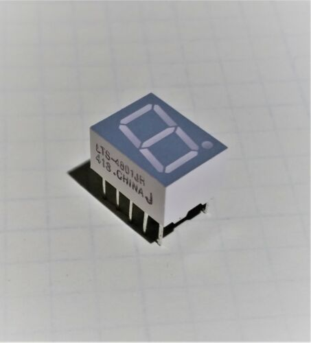 Lite-On LTS4801JR 7-Segment Red display with Right Decimal Common Anode