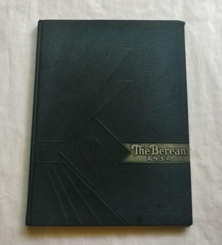 1932 BEREA HIGH SCHOOL Yearbook OHIO - BEREAN