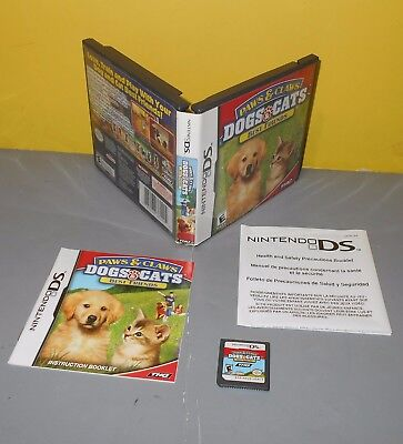 Paws & Claws: Dogs & Cats Best Friends (Nintendo DS, 2007) Kids Games