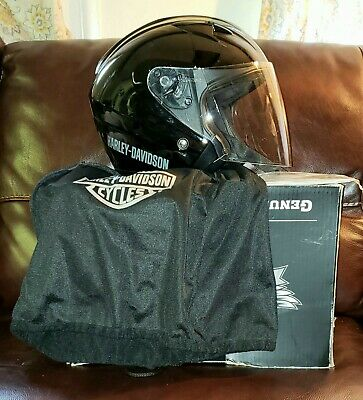 Harley Davidson 3/4 Helmet W/ Full Visor | 98210-10VM | Female Small