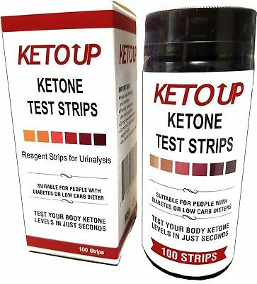 KETONE TEST STRIPS - BULLETPROOF  - KETO DIET  - 100ct.