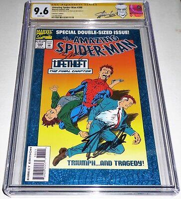 Amazing Spider-Man #388 Collector's Edition CGC SS Signature 2x STAN LEE+ Venom