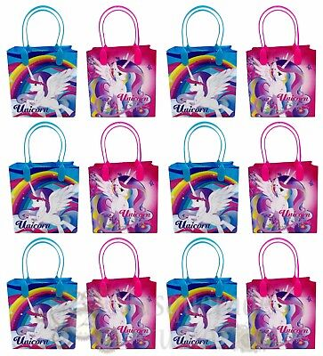Rainbow Unicorn Party Favor Supplies Goody Loot Gift Bags fo