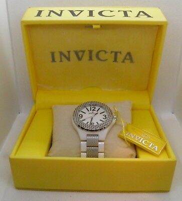 NEW OLD STOCK BOX, ALL PAPERS INVICTA 1184 SOLID CERAMIC CASE & BAND MEN'S WATCH