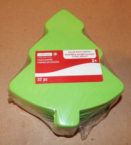 Christmas Foam Ornament Shapes 32pc Value Pack Crafts Xmas Trees Creatology 148B