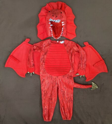 Pottery Barn - Toddler Red Dragon Halloween Costume 3T