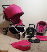 """""""PINK PACKAGE DEAL"""" STEELCRAFT AGILE PLUS  Pram + Car Capsule Coombabah Gold Coast North Preview"""