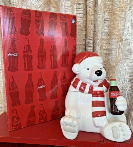 Westland Giftware Coca Cola Holiday Polar Bear Cookie Jar Officially Licensed