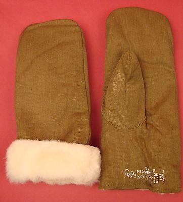 SOVIET ARMY Genuine Fur MITTENS Russian Infantry Winter combat ORIGINAL 1990 NEW