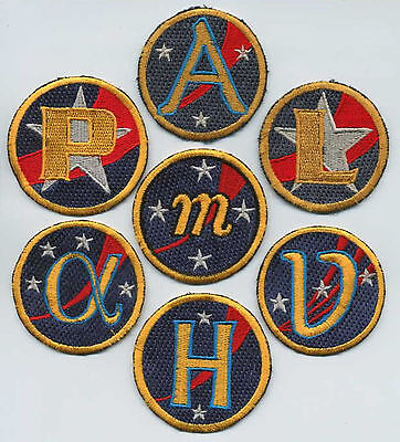 Babylon 5 - 7 assorted embroidered EA Ship Patches -- Set of 7