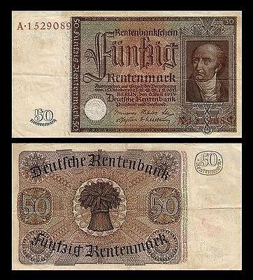 50 Rentenmark Rentenbankschein 06.07.1934   P172 Reproduktion