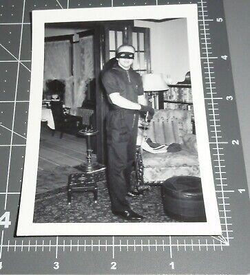 Homemade Halloween Costume For Men (1950's Man in Homemade ZORRO COSTUME Mask Sword Hat HALLOWEEN Vintage)