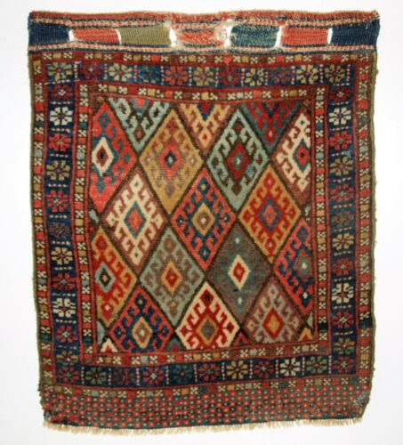 Antique Jaf Kurd Bag Face, Excellent Colour and Design, Circa 1900