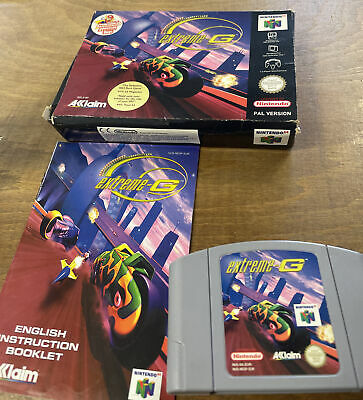 Extreme G For N64 (PAL) - Boxed With Instructions