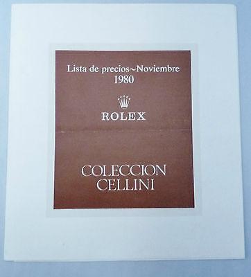 ROLEX CELLINI Vintage Price List 1980 Spain King Midas Queen 4311 4312 4313 4314