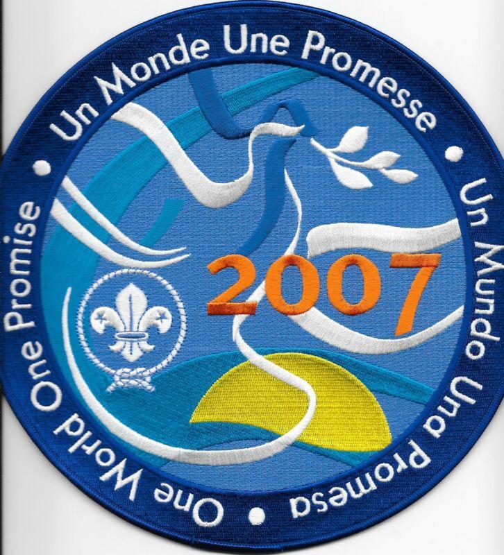 "2007 One Promise 10"" Back Patch 21st World Boy Scout Jamboree United Kingdom"