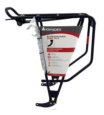 Axiom Rear Rack - Axiom Streamliner DLX Standard or Disc Bike Rear Rack Black 26