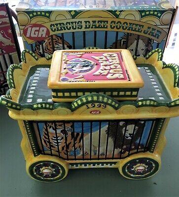 Cookie Jar IGA Circus Daze 1999 Lion & Tiger Ceramic COLLECTOR EDITION