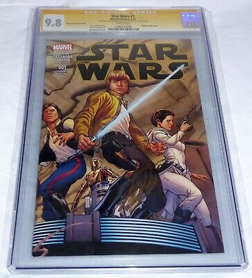 Star Wars #1 CGC SS Signature Autograph STAN LEE 9.8 Quesada Variant Cover 1st D