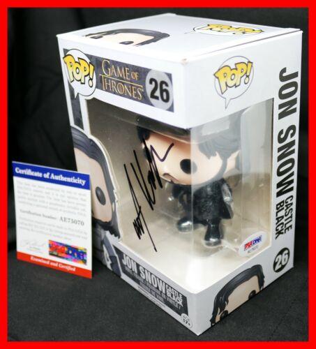 Rare! Kit Harington Signed Game Of Thrones Autograph Jon Snow Funko POP PSA JSA