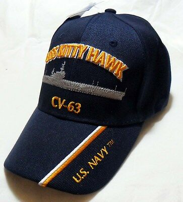 USS KITTYHAWK CV-63 US NAVY SHIP HAT OFFICIALLY LICENSED BALL CAP  - Navy Ships Ball Caps