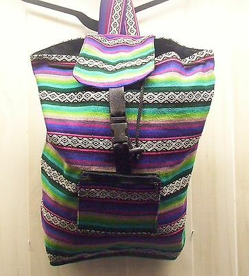 Backpack With Drawstring, Top Flap, Outside Pocket, Lined Southwest Multi Color
