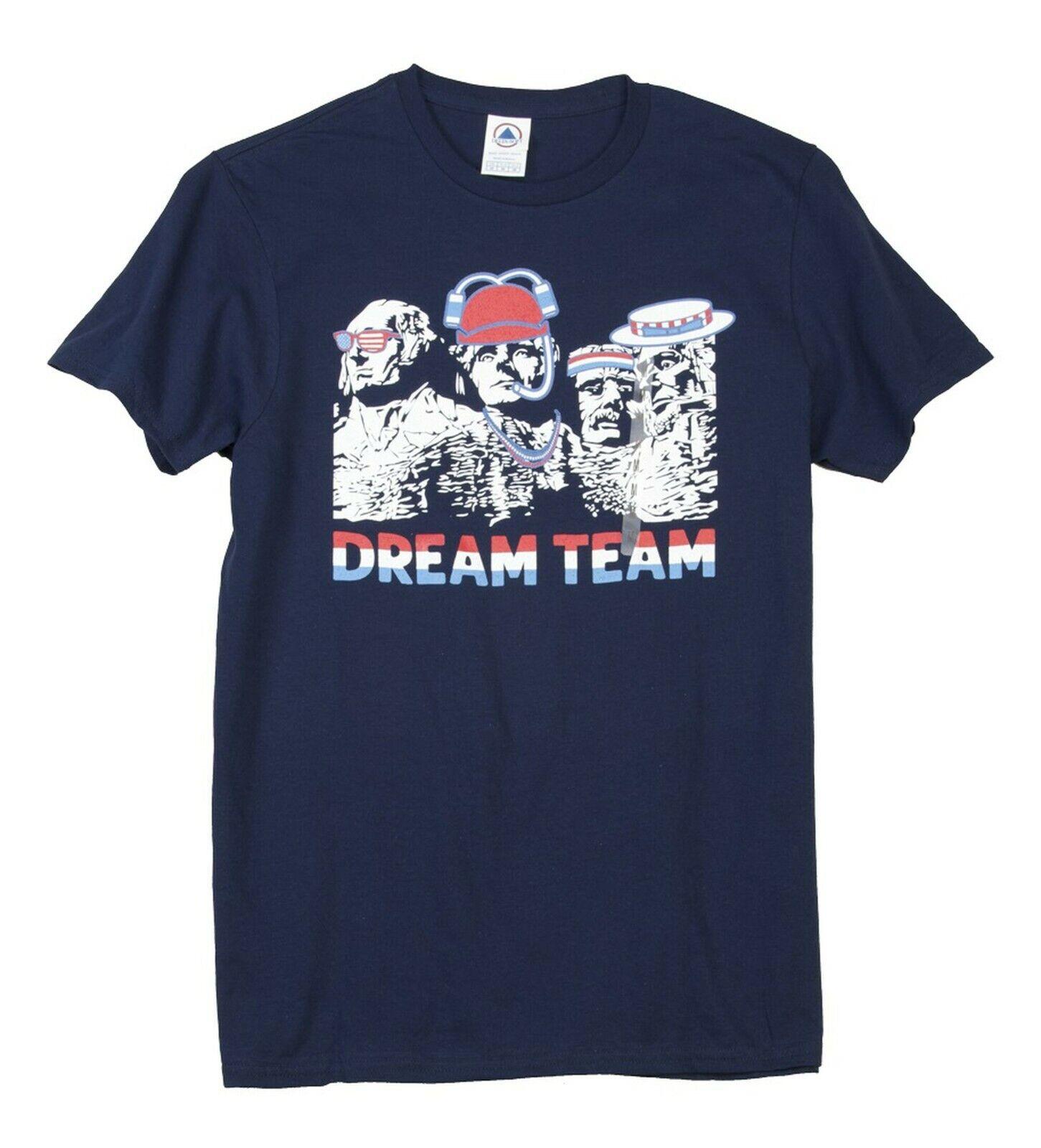 """Mt. Rushmore """"Dream Team"""" Patriotic USA Beer T-Shirt NEW Men"""
