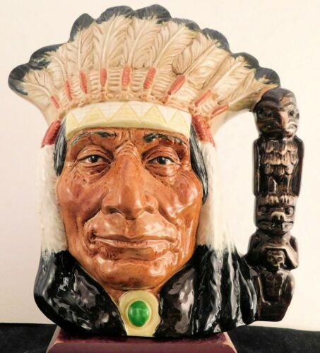 Vintage Royal Doulton Large Character Jug Chief D6611