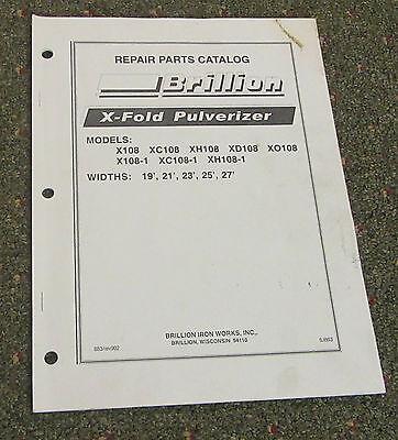 Brillion X-fold Pulverizer Repair Parts Catalog Widths 19-21-23-25-27