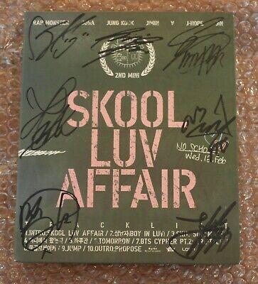 BTS Autographed Signed 2nd Mini Album Skool Luv Affair Boy in Luv CD PROMO Rare