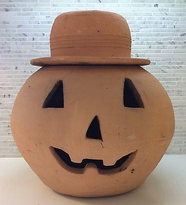 Hewell Pottery Pumpkin Vintage Jack-O-Lantern Georgia Red Clay Cravens Punk Era