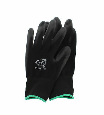 Global Glove PUG Work Glove PUG17M Poly/Nylon Glove, Work, Medium, Black 12 Pair