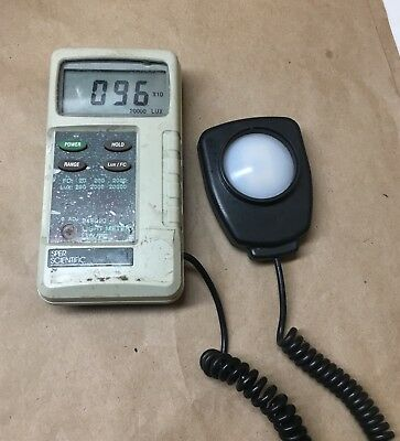 Sper Scientific Light Meter Luxfc - Model 840020 - Used And Working Condition