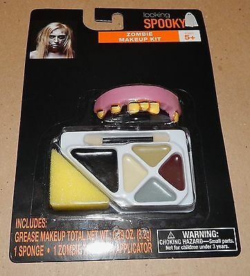 Halloween Makeup Kit Looking Spooky Zombie Makeup Kit With Teeth 117B](Zombie Halloween Makeup Kits)