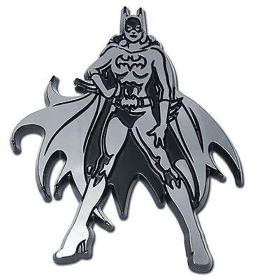Batgirl Chrome Auto Emblem DC Comics Justice League Licensed - Batgirl Emblem