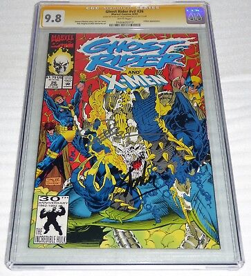 Ghost Rider #v2 #26 CGC SS Dual Signature Autograph STAN & JIM LEE X-Men App.