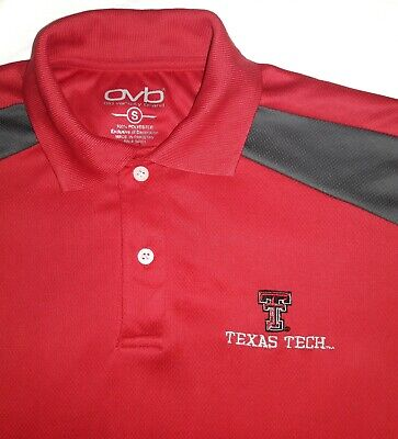 MEN'S TEXAS TECH RED COLOR POLO SHIRT SIZE SMALL IN MINT CONDITION.  Texas Tech Colors