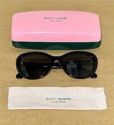 NEW Kate Spade Polarized Hello Sunshine Black Sunglasses (Hello Sunshine Kate Spade)