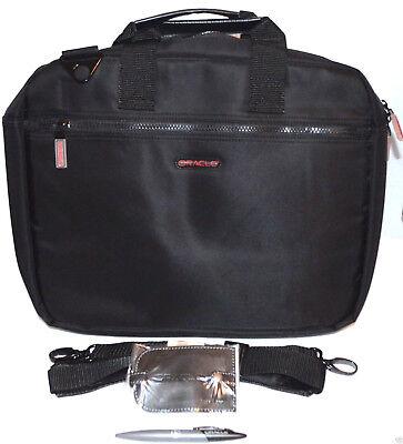 """Black 15"""" Inch Laptop Bag Case With Shoulder Strap And Black"""